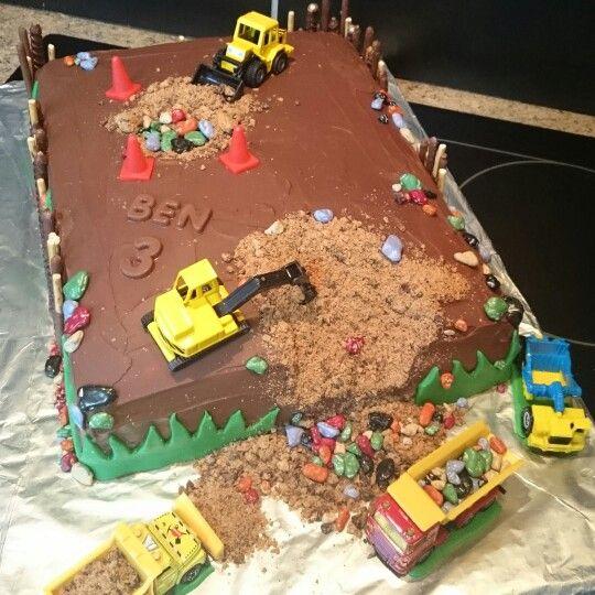 Bagger Torte Kinder Kuchen Geburtstag Kuchen Kindergeburtstag Bagger Torte