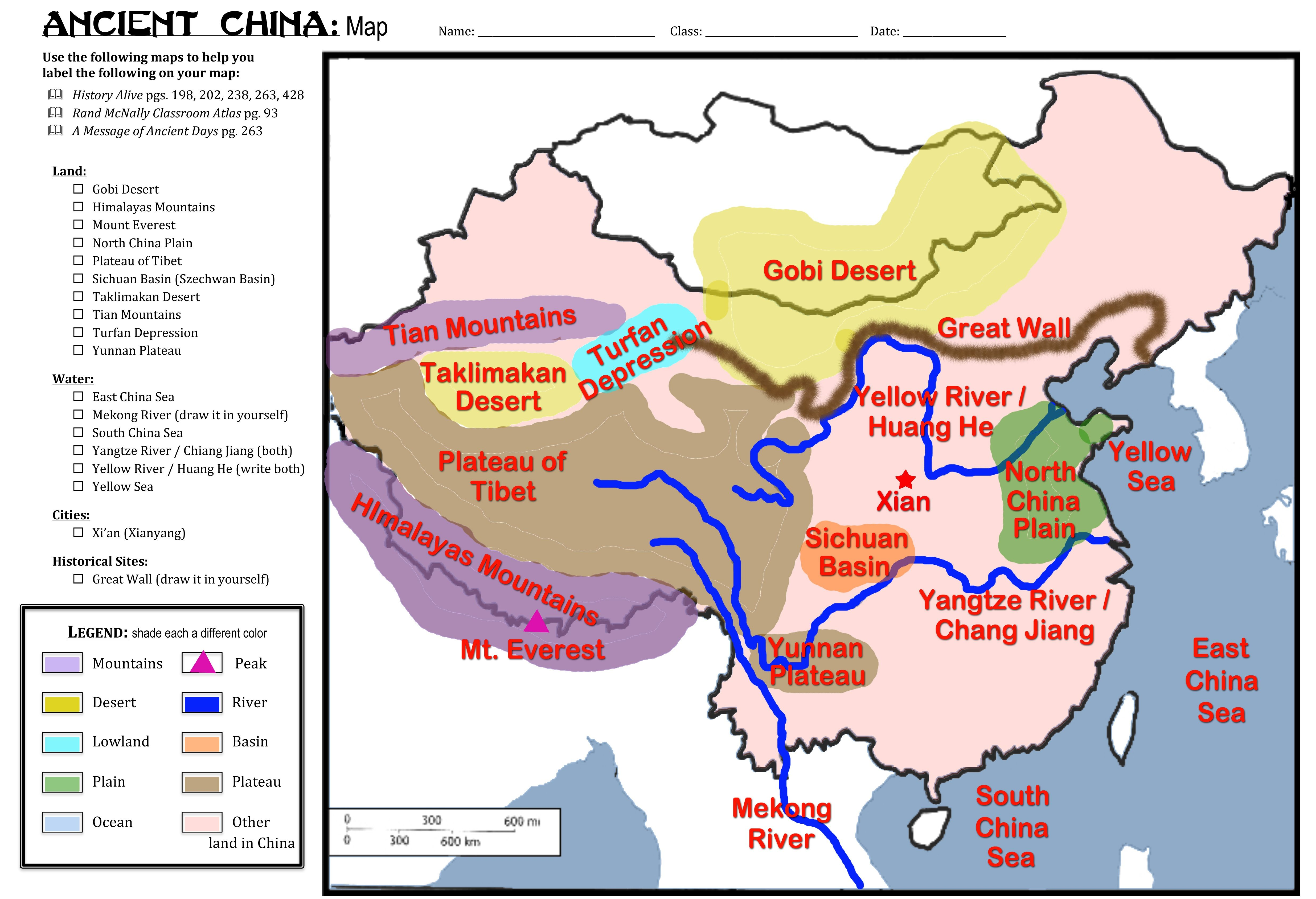 small resolution of China Map Activity #Riversareeverything   Ancient china map