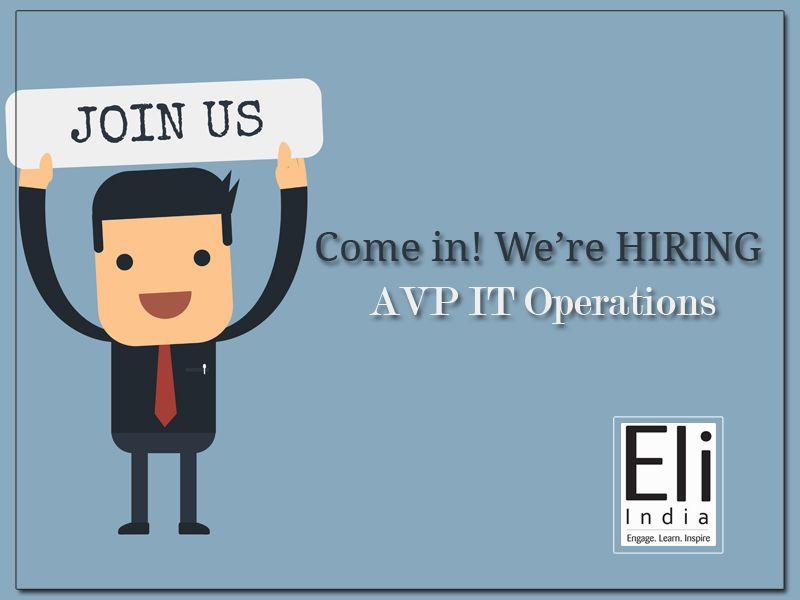 AVP IT Operations Jobs In Faridabad Delhi - Eli India. We are on a lookout for AVP IT Operations with min 10 years of experience in managing IT Infrastructure operations. The right candidate must be having strong leadership quality with team management skills.