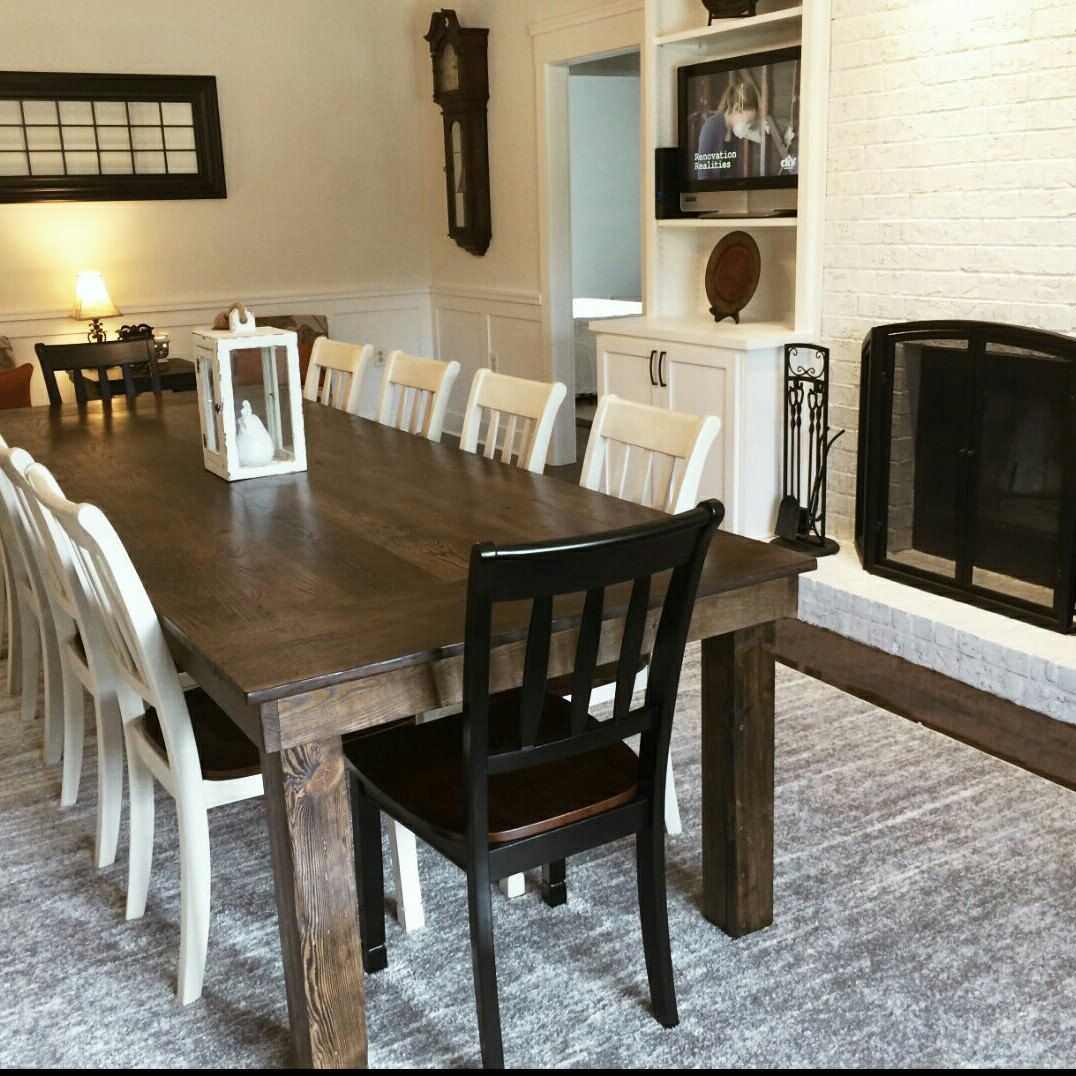 Farmhouse Dining Table With Post Legs Wooden Whale Workshop Furniture
