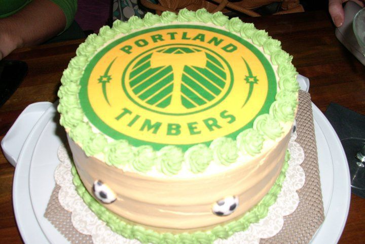 Strange Portland Timbers Birthday Cake Megan Lamb Ptfcfood With Images Birthday Cards Printable Giouspongecafe Filternl