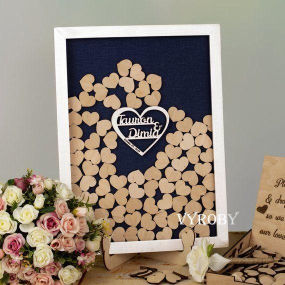 Unique Wedding Guest Book Sign Rustic Guestbook Alternative