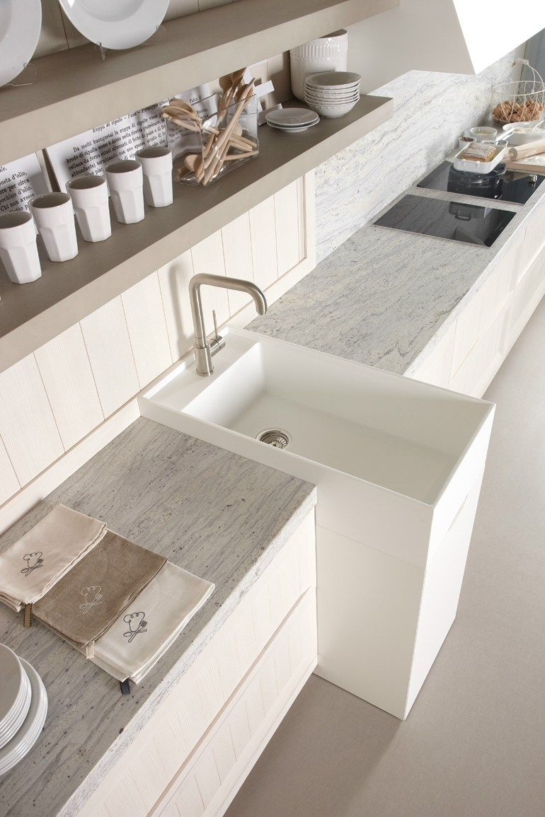 Linear Kitchen Arkadia Blanco Nata By Muebles Dica