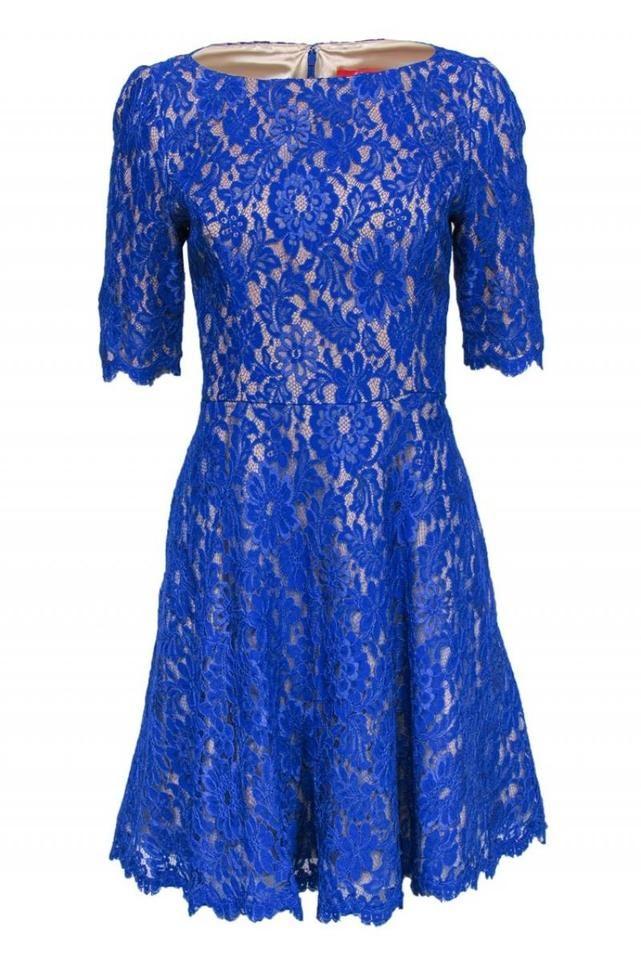 Monique Lhuillier | Blue Cocktail Dress Size 10 (M) -   15 dress Coctel monique lhuillier ideas