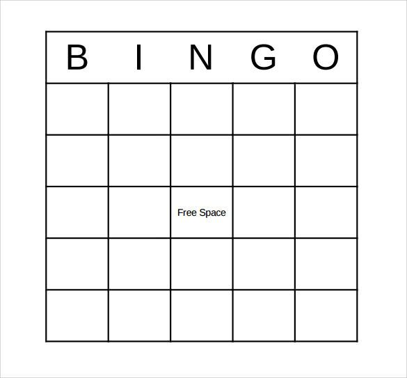 Sample Bingo Card Template Pdf  Baapua Camp    Bingo