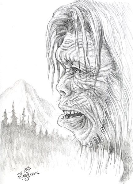 Bigfoot Sasquatch Coloring Pages Bigfoot Art Sasquatch Bigfoot