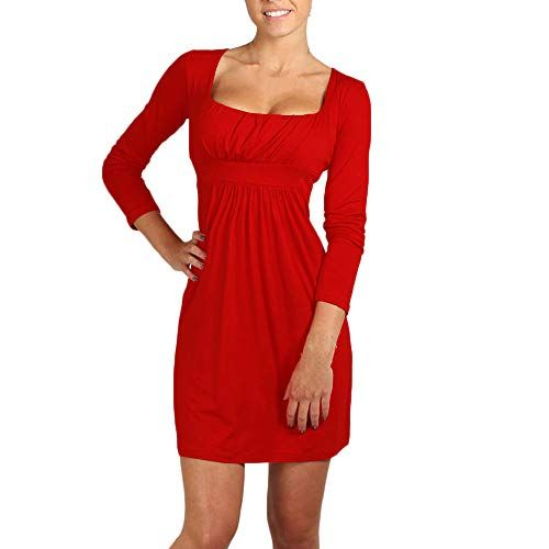 04bb6e624b8da SamMoSon Discount Robe Longue Femme ete Tailleurs-Robes Femme Ville Femmes  Fille Mini Robe Carré