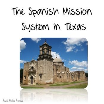 missions of texas with cartoon notes social studies products on tpt middle school history. Black Bedroom Furniture Sets. Home Design Ideas