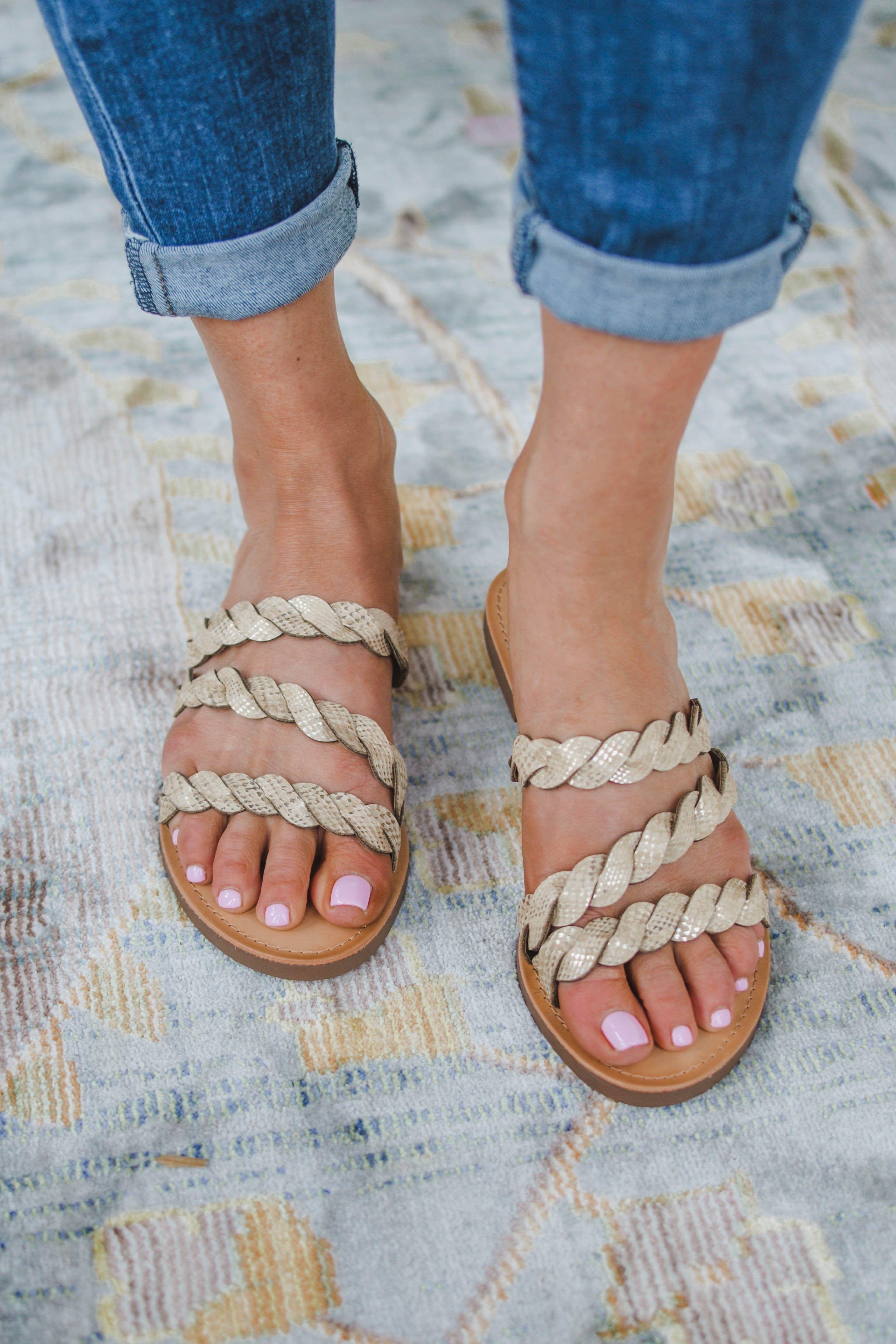 8c0c0b19c73 Shop Pomp and Circumstance Boutique! Braided Snake Sandal  Sizes 5.5-10.  Ladies