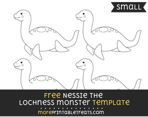 Free Nessie The Lochness Monster Template - Small Shapes and - monster template