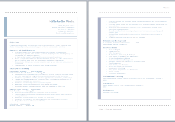 19 free secretary resume samples in ms word format