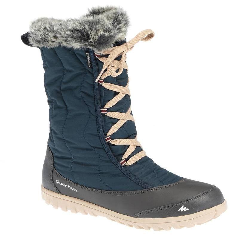 741339cbcf QUECHUA SH500 x-warm blue snow boots with laces | Shoes | Snow boots ...