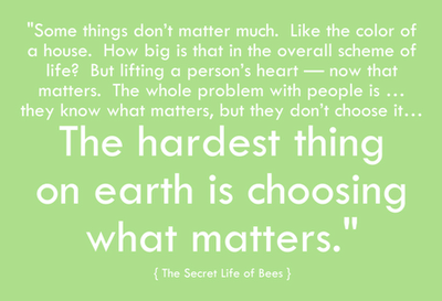 Beautiful Quote From: The Secret Life Of Bees By Sue Monk Kidd. Simple Really.