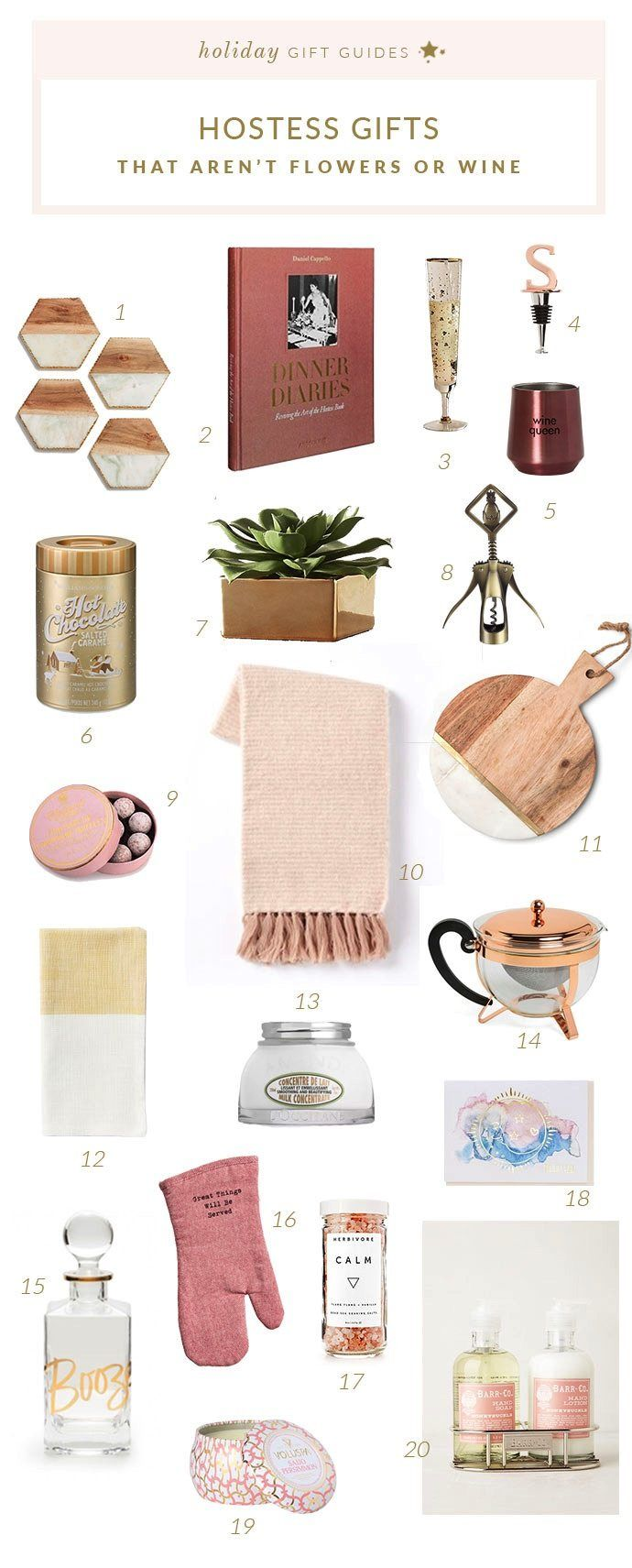 20 Hostess Gift Ideas That Aren't a Bottle of Wine