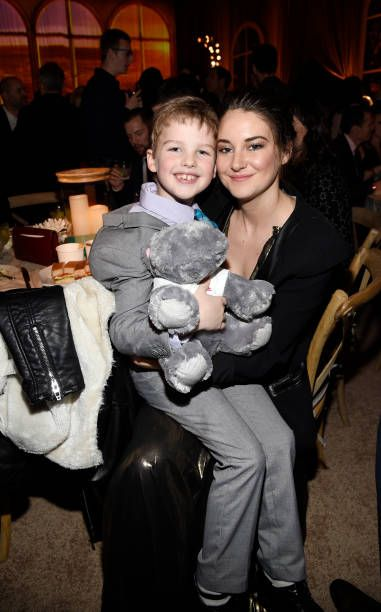Actress Shailene Woodley Poses With Fellow Cast Member Ian