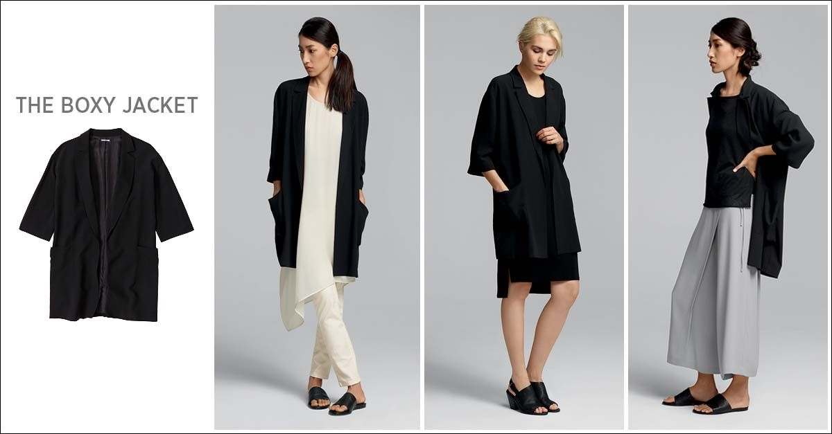 EILEEN FISHER Spring Icons Collection: The Boxy Jacket