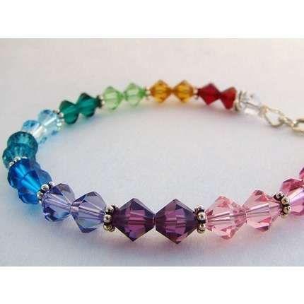 Swarovski Beaded Mens Crystal Handmade Bracelet In Bracelets