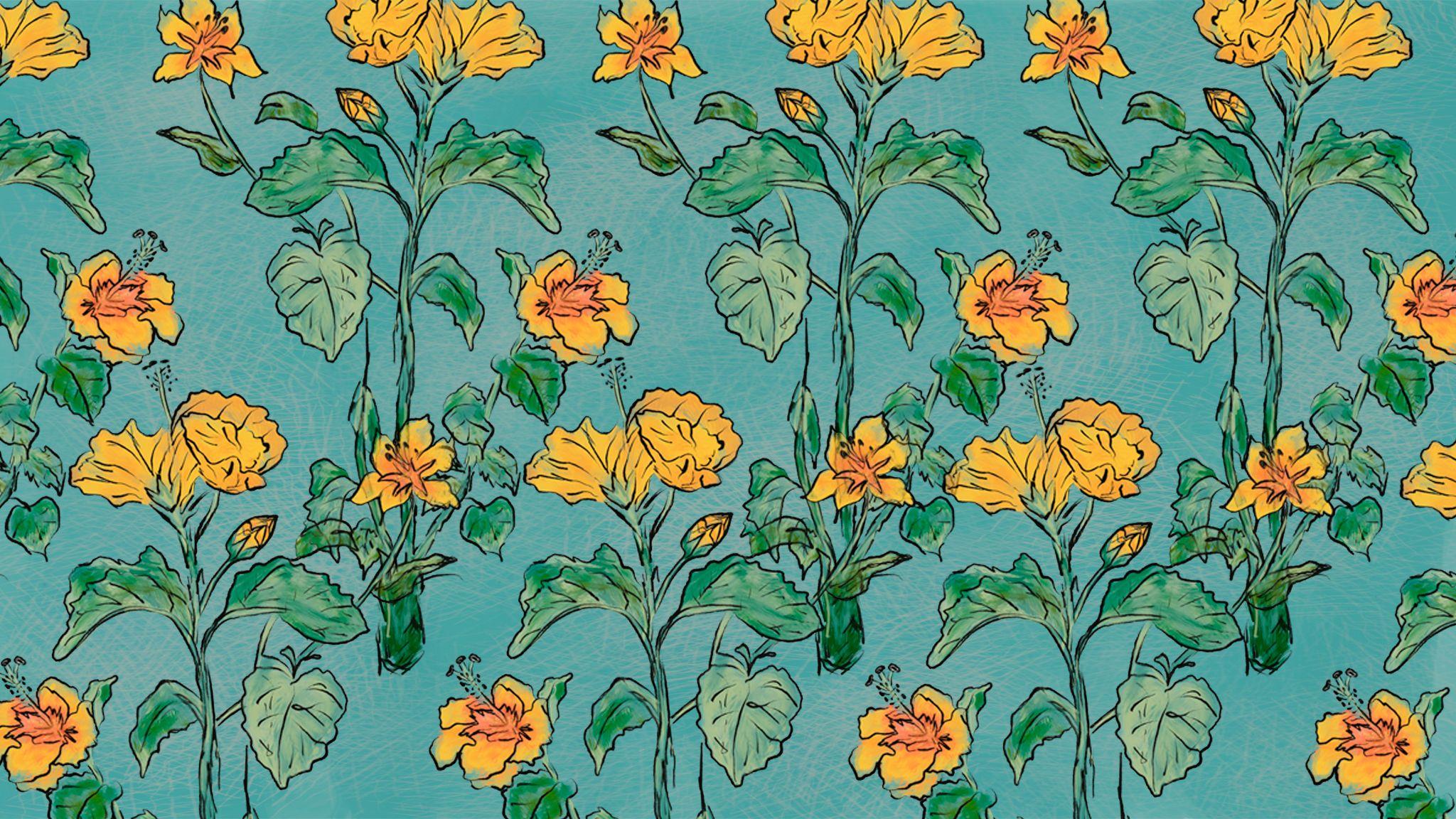 Download hd wallpapers for free on unsplash. Yellow Hibiscus Wallpaper — Moncharis | Desktop wallpaper