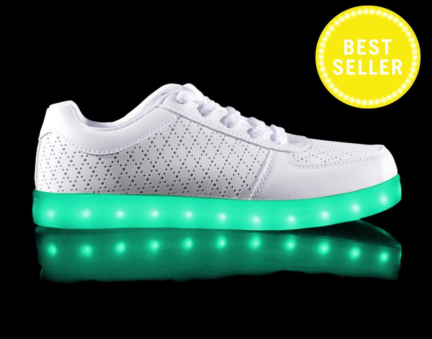 2fef66440aa Hoverkick Mens Nova (Perf-White) with Remote Control Kid Shoes, Light Up