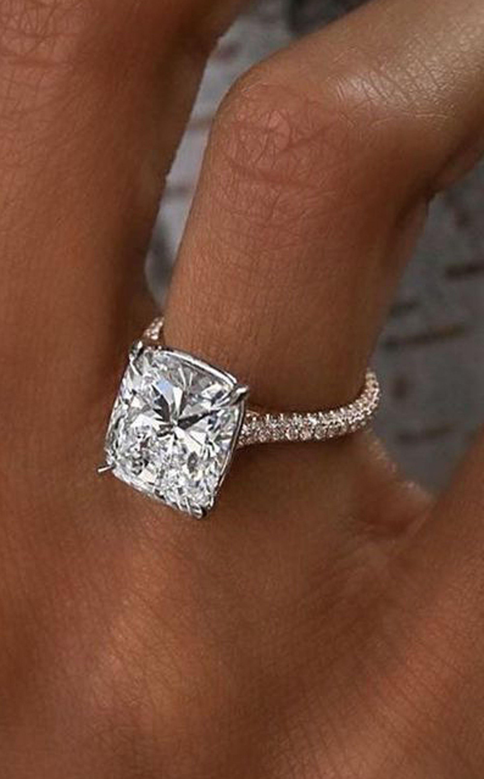 Large Silver Natural Gemstone Moonstone Ring Wedding Engagement Jewelry 5-10