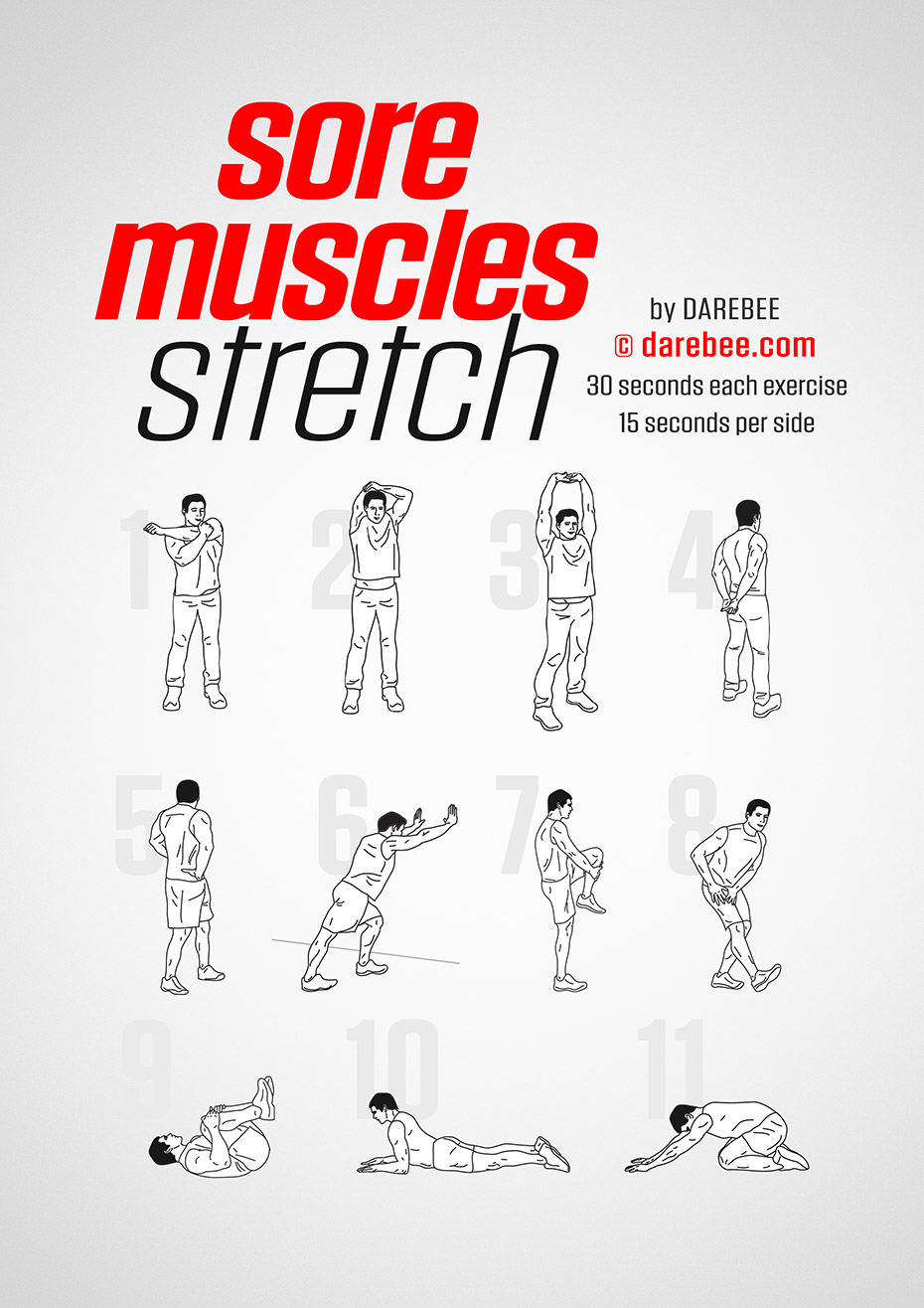 Sore Muscles Stretch by DAREBEE #workout #fitness #fit #wod #exercise #abs hashtags