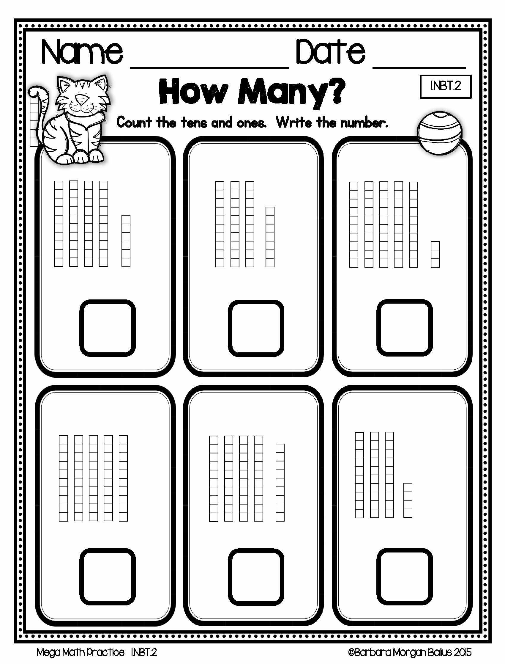 FREEBIE**PREVIEW** First Grade Mega Math Practice. Young ...