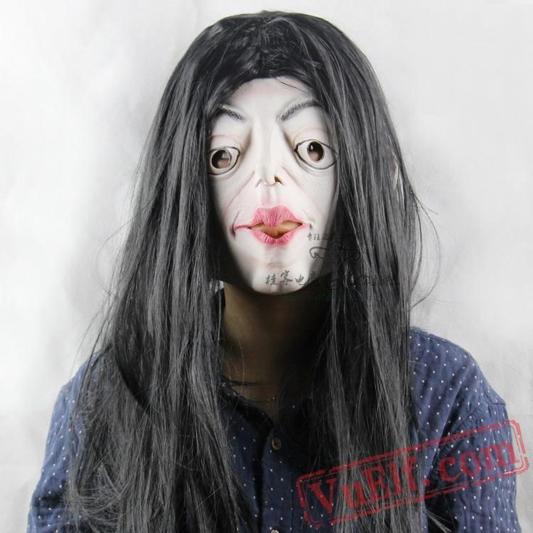 Black Hair Witch Halloween Masks Scary Clown Mask Halloween Masks Scary Halloween