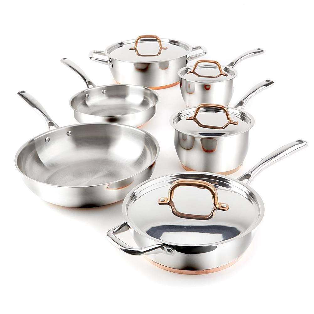 Food Wine 10 Piece Stainless Steel Cookware Set Cookware Set