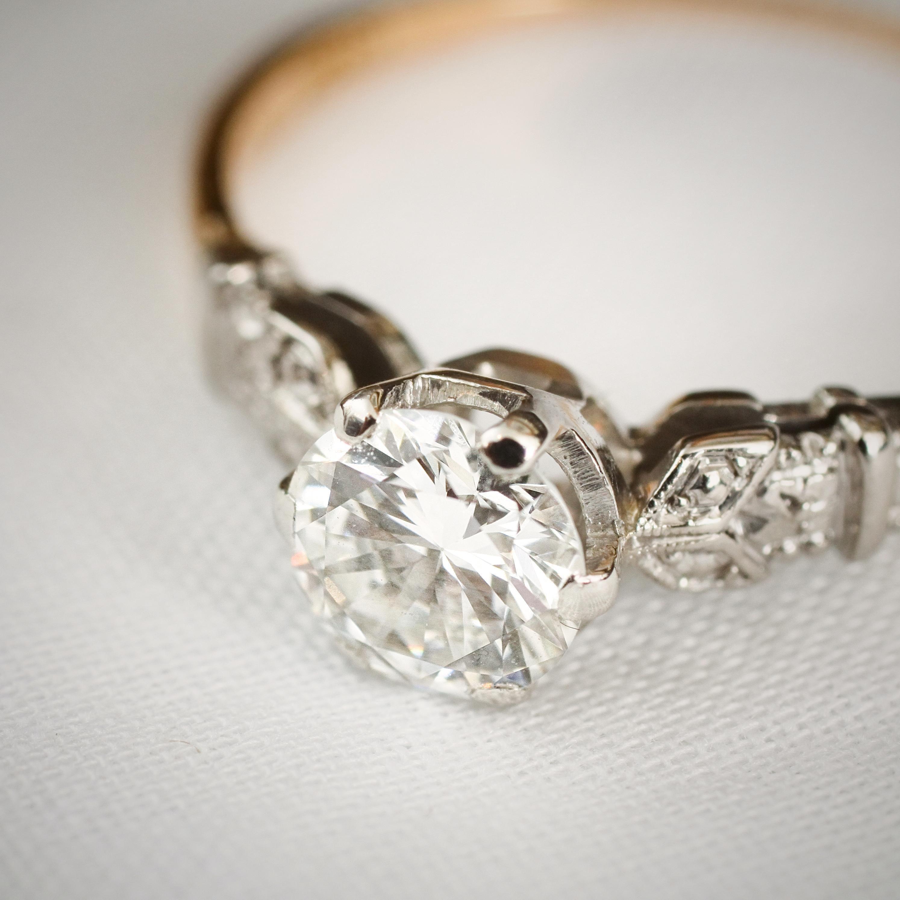 Oh favouredly beauteous vintage diamond solitaire engagement ring