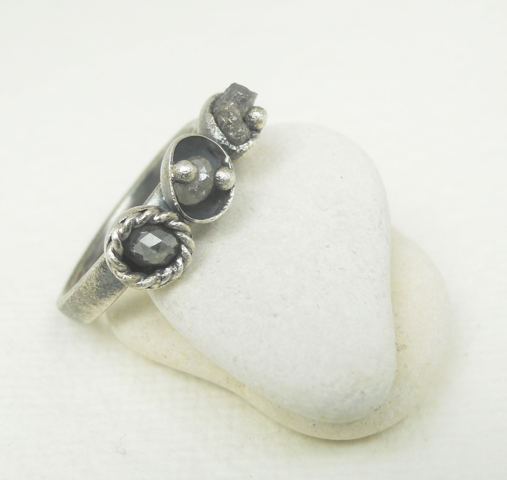 mine grey victorian inspirational of old artemer new engagement cluster wedding antique rings cut ring ooak diamond