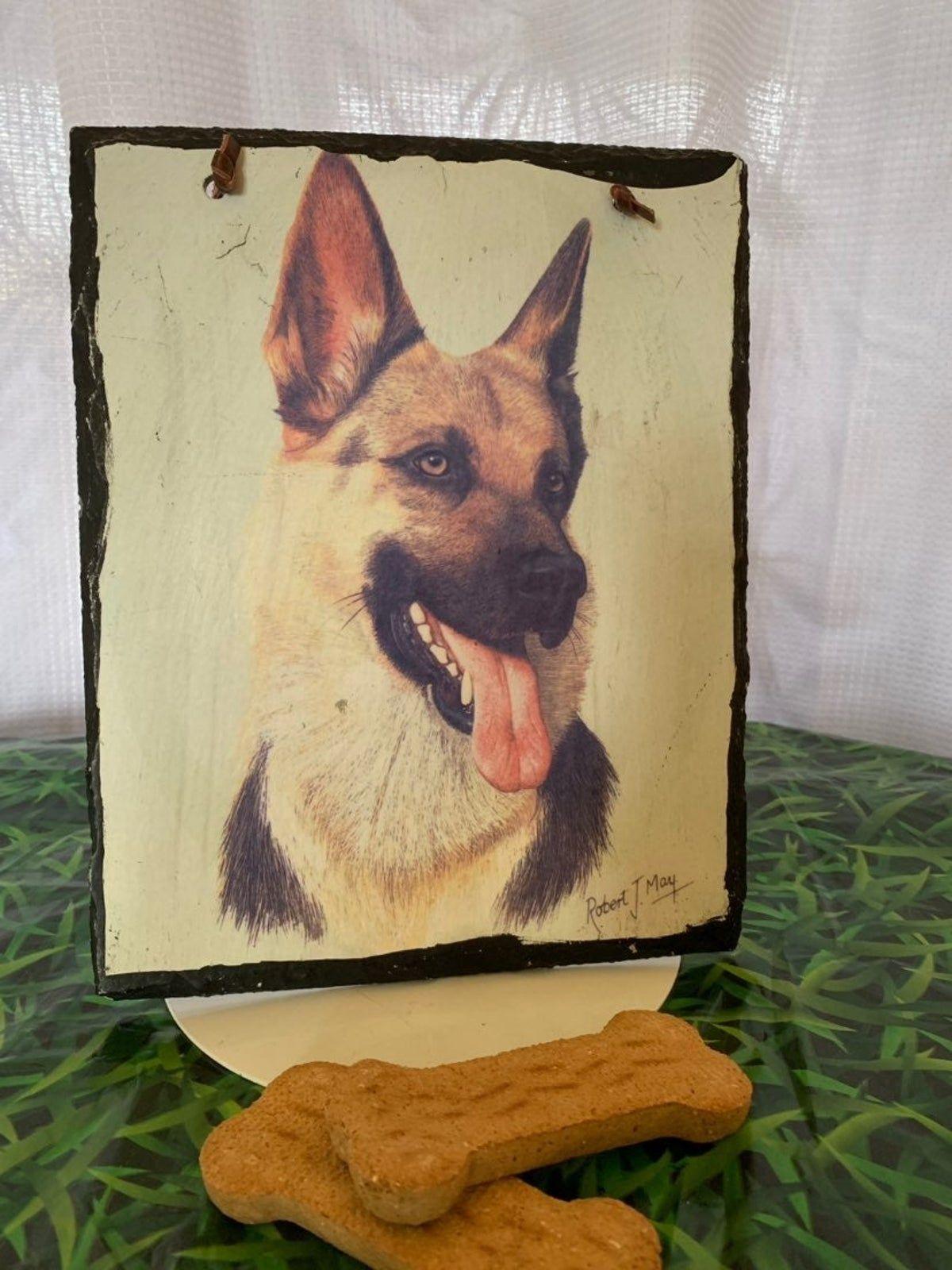 German Shepard Dog Slate Painting #germanshepards