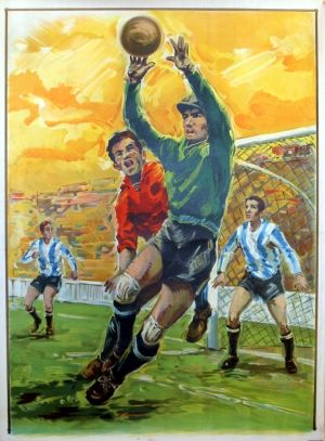Football Goalkeeper, 1963 - original vintage poster listed on AntikBar.co.uk