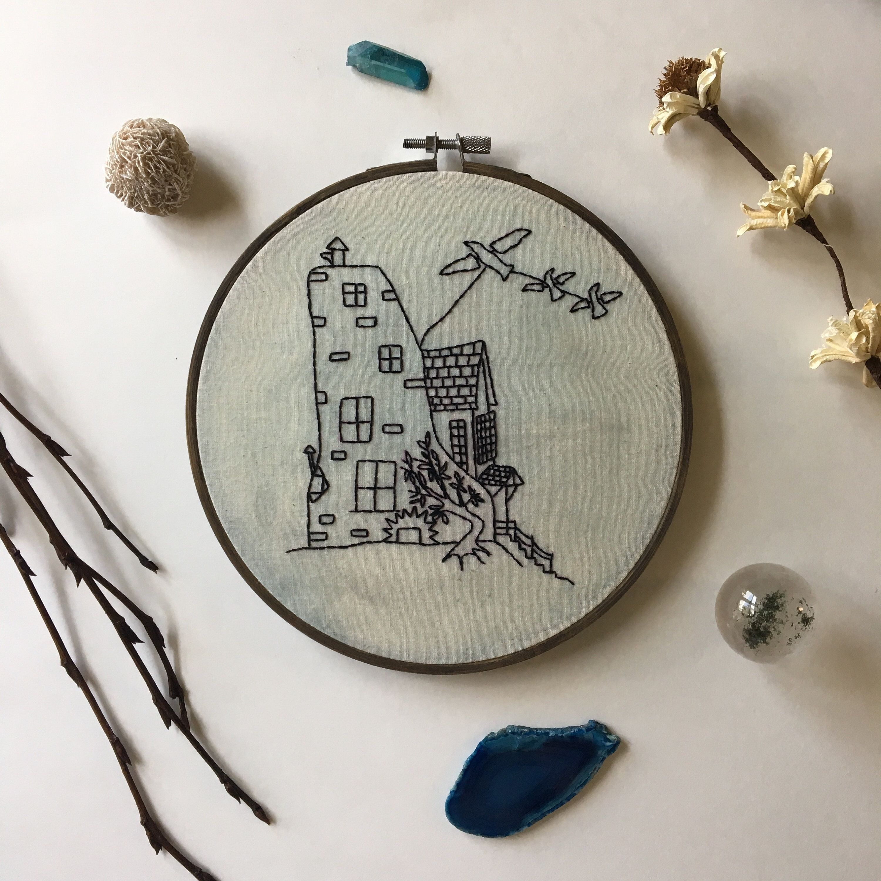 The Lovegood House Embroidery Harry Potter Wall Art