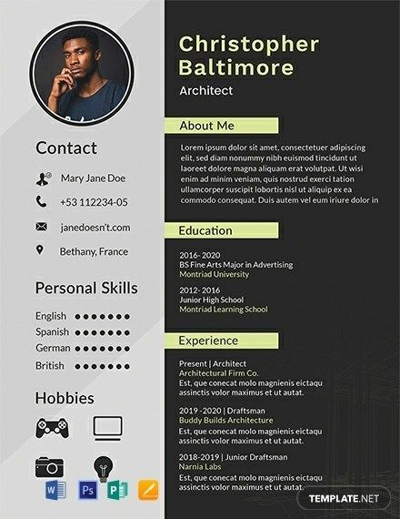 awesome architecture student cv template collection