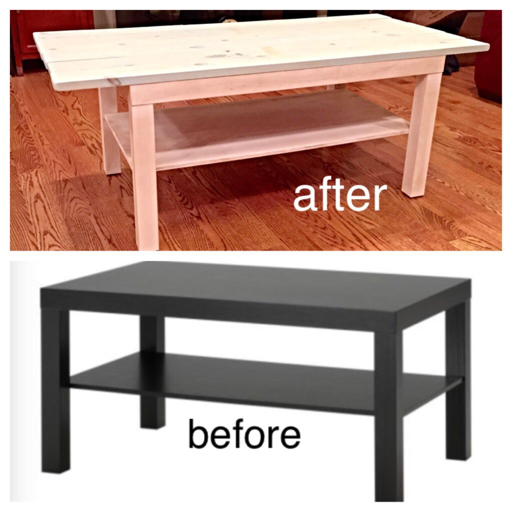 Recycle Your Old College Stuff Ikea Lack Coffee Table Used Annie Sloan Pure White Chalk Paint As Da Ikea Lack Coffee Table Blue Wood Stain Lack Coffee Table
