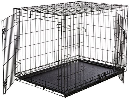 AmazonBasics Double Door Folding Metal Dog Crate   Large (42x28x30 Inches)  **