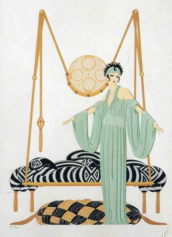 Pillow Swing by Erte.