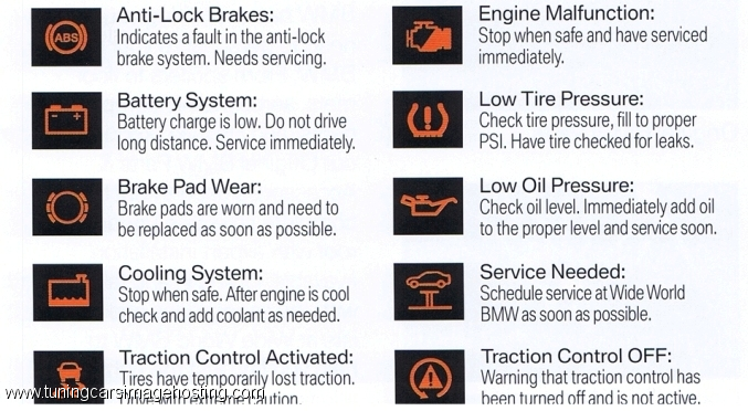 2007 Bmw 328i Warning Light Symbols Americanwarmoms