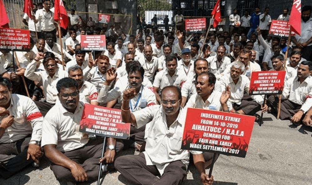Hindustan Aeronautics Limited(HAL) strike enters 8th Day