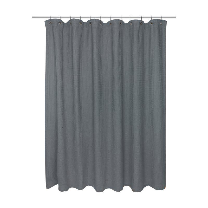 Carnation Home Fashions Waffle Weave Vinyl Shower Curtain Vinyl