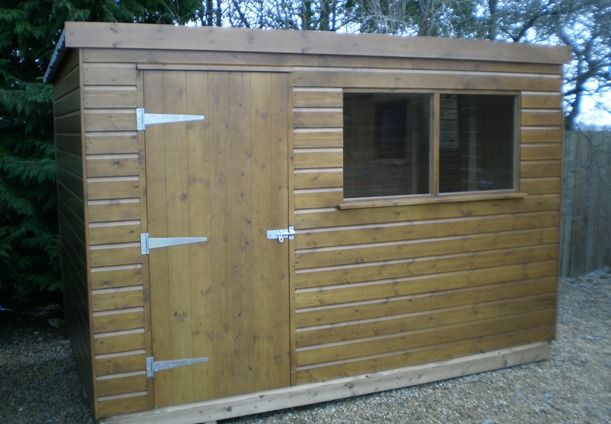 18 x 30m classic pent shed
