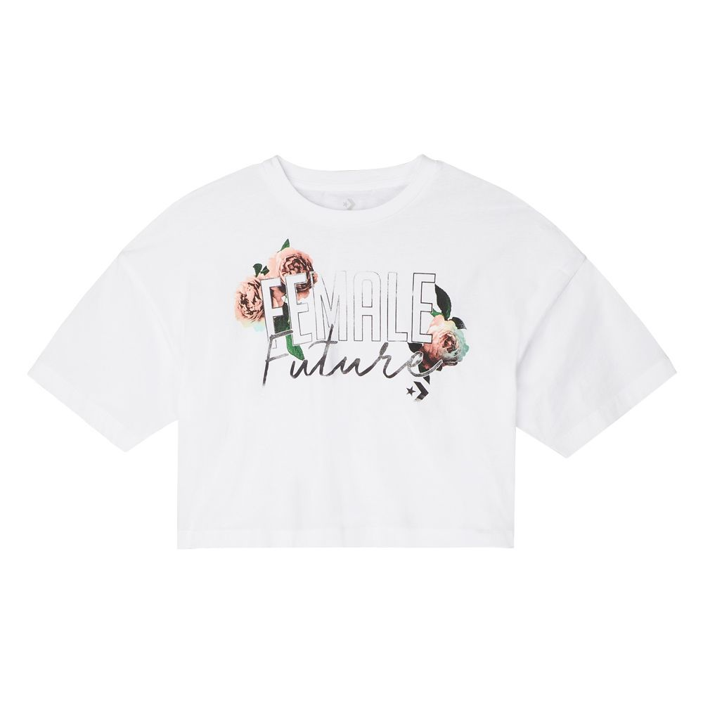 Converse Female Future Women's Cropped Boxy T-Shirt White white ...