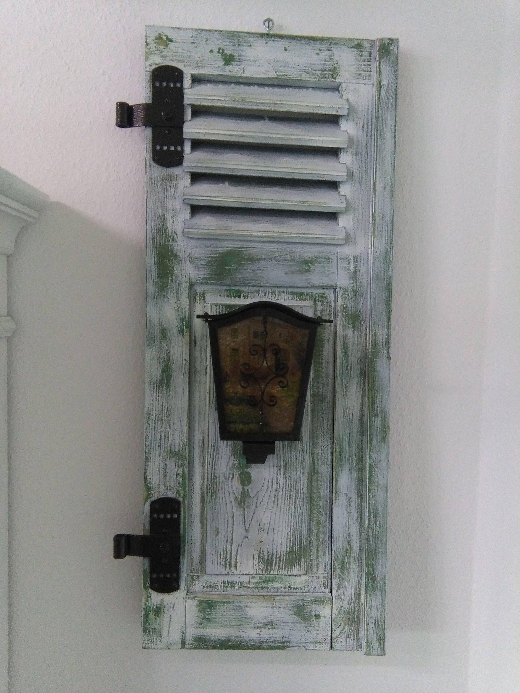Fensterladen Lampe Shabby Bild Grün von dieideenschmiede01 auf Etsy ...