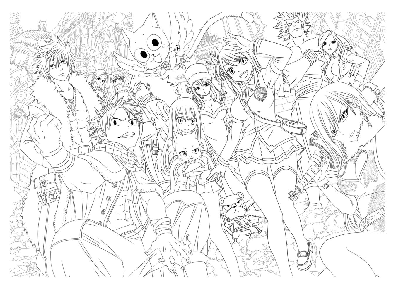 Free Coloring Page Coloriage Manga Par Tobeyd