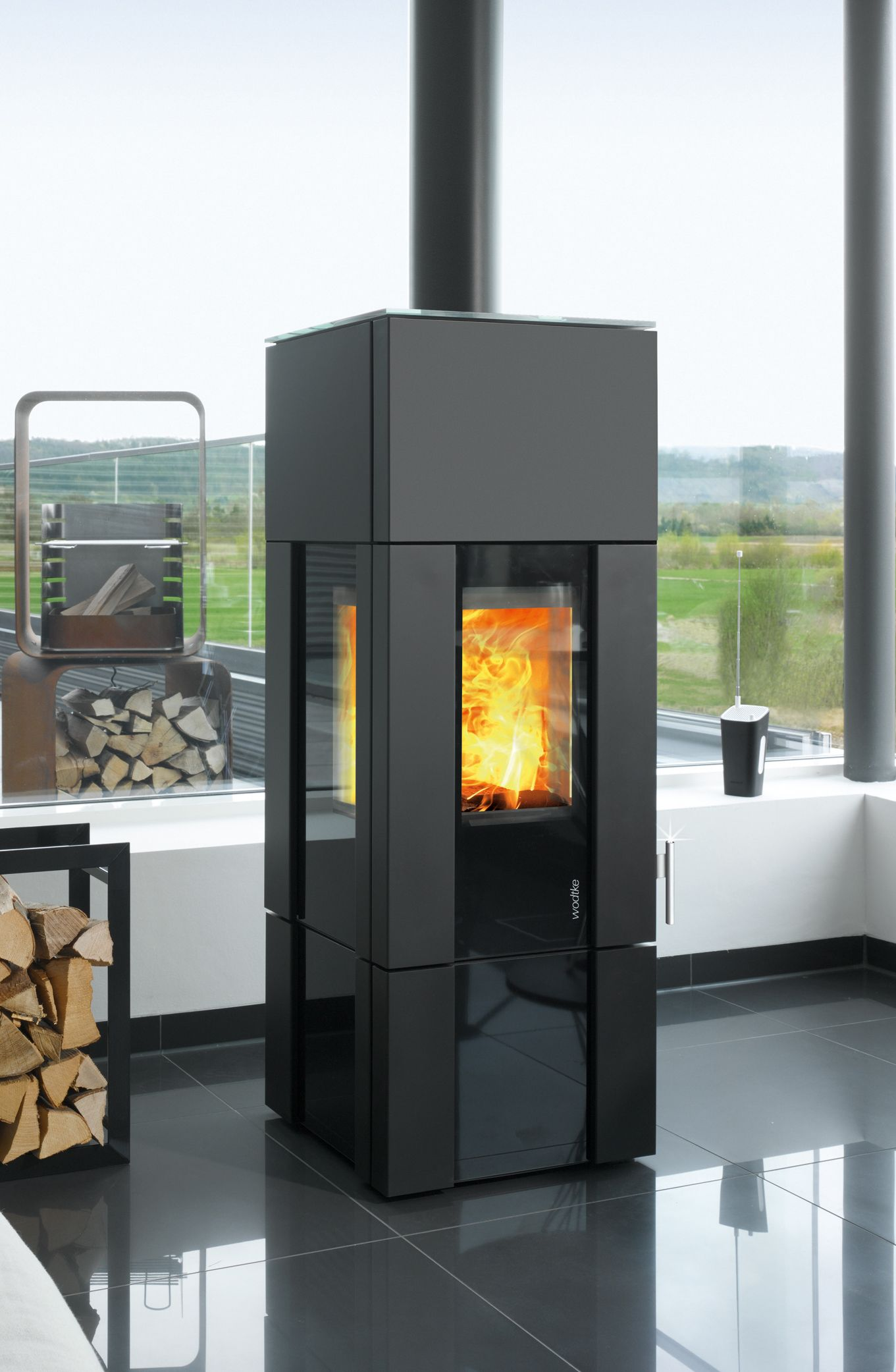 wodtke new look f9 kaminofen mit hiclean filtera technik fireplace