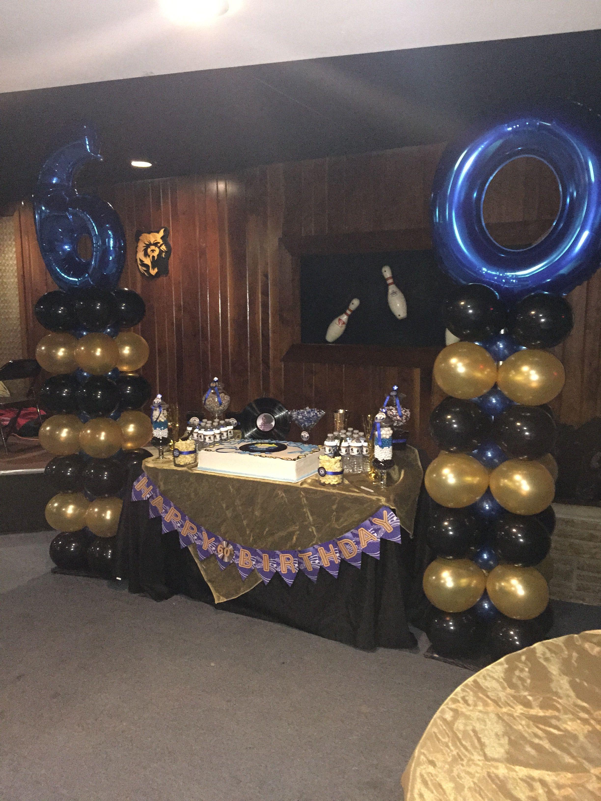 60th Motown Birthday Balloon Columns