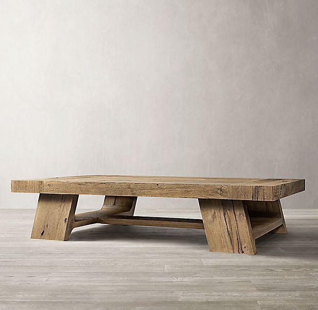 Davos Oak Rectangular Coffee Table Oak Coffee Table Coffee Table Wood Coffee Table Farmhouse
