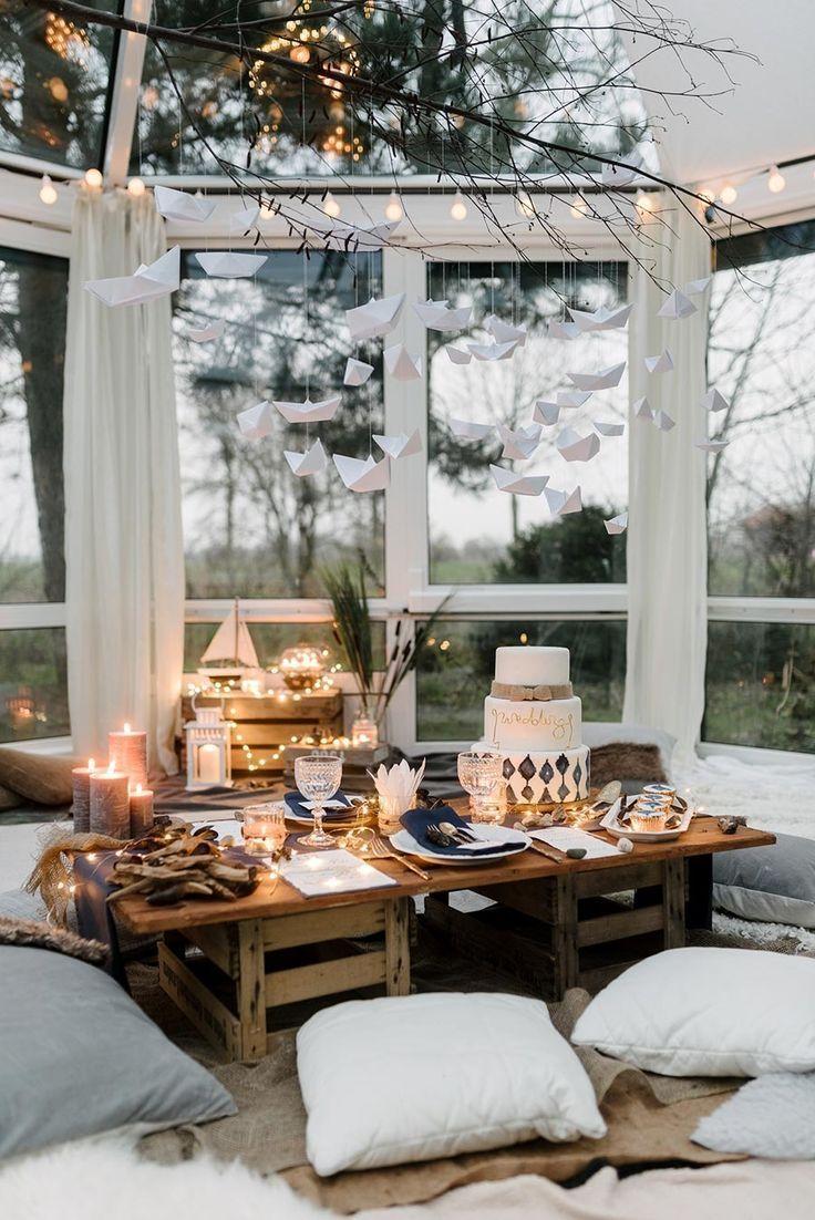 Lovely Tischdeko Für Eine Maritime Strand Hochzeit In Royalblau. Foto:  Http://sandrahuetzen Idea