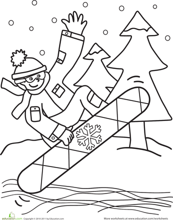 Snowboarder Coloring Page Worksheets Kindergarten And Word Search Princess Presto Coloring Pages Free Coloring Sheets
