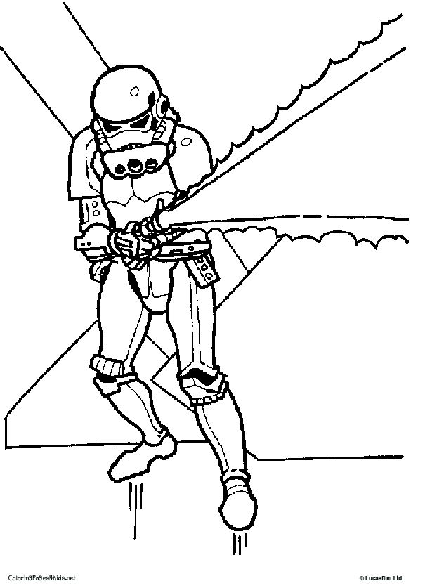 Storm trooper coloring page star wars
